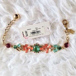 Kate Spade Gemstone garden party bracelet floral